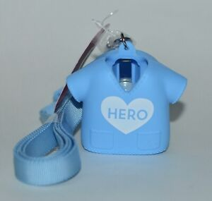 BATH BODY WORKS BLUE HERO NURSE MEDICAL SCRUBS LANYARD POCKET  BAC HOLDER SLEEVE