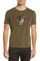 John Varvatos Star USA Mens Sz S Freedom Skull Graphic Crew T-Shirt Dark Fatigue
