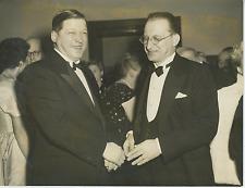 De Gasperi et l'ambassadeur Kostylev Vintage silver print Tirage argentiq