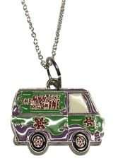 Scooby Doo The Mystery Machine Van Enamel Metal Pendant Necklace