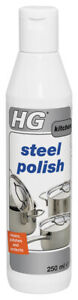 HG Kitchen Steel Polish 250ml Cleans, Polishes, And Protects