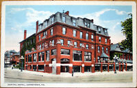 1920 Postcard: Capital Hotel - Johnstown, Pennsylvania PA