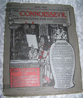 Vintage Art Old Paper THE CONNOISSEVR A Magazine for Collectors 1906 Guide