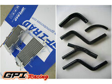 FOR Honda CR 250 R/CR250R 2-stroke 1985-1987  aluminum radiator +silicone hose