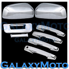 07-12 GMC Sierra Chrome Mirror+4 Door Handle noKH+Tailgate no KH no Camera Cover