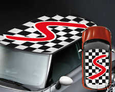 00048 Adesivi Auto Stickers Mini Cooper 500 Smart Scacchiera 100x150 cm