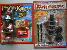 Playmobil * 1 x  Piraten-Kapitän Schatzkarte + Ritterkanone*Neu*Limitierte Figur