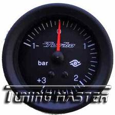 Manometro Strumento Road Italia 52mm VDO Style Pressione Turbo -1+3 BAR
