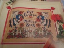 'Heaven And Nature' Sandy Orton cross stitch chart(only)