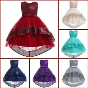 Formal Kid Baby Girl Flower Bridesmaid Tutu Party Wedding Dresses Dress Princess