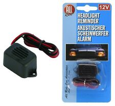 12V Headlight Headlamp ON Light Warning Alarm Reminder Buzzer Beeper Car Van NEW