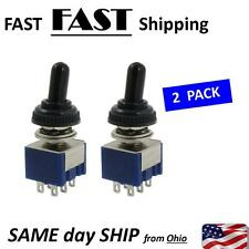 Small Waterproof Switch --- 2 PACK --- DPDT