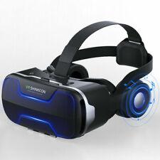Adjustable VR Box 4.0 3D Virtual Reality Headset Glasses & Headphones Phone