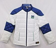 Hartford Whalers Quilted Puffer Jacket Women's Size Large in White NHL A12B