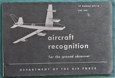 Aircraft Recognition 1955 Cold War era US Air Force Ground Observer Airplane ID
