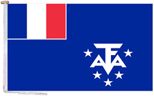 More details for french southern & antarctic lands france flag with rope and toggle various sizes