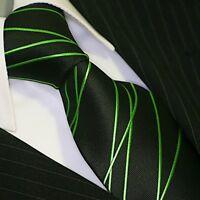 BINDER de LUXE KRAWATTE tie slips corbata cravatte Dassen krawat 413 Grün