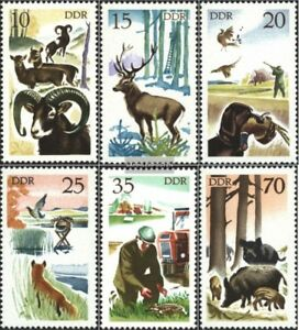 DDR 2270-2275 (complete.issue) unmounted mint / never hinged 1977 Hunting