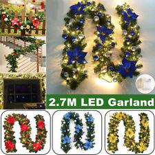 Girlande mit LED Lichterkette Weihnachtsgirlande Tannengirlande Weihnachten Deko