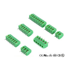 3.5MM PCB Mount Screw Terminal Block Connector Electrical Connectors 2P 3P Green