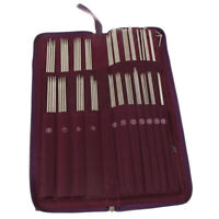 104pcs Stainless Steel Straight Knitting Needles Crochet Hook Weave Set