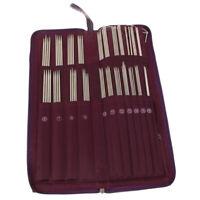 104pcs Stainless Steel Straight Knitting Needles Crochet Hook Weave Set