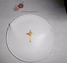 White Leather Zippered Rosary or Chaplet Case