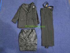 """1/6 scale Hot Man Black Stripe Suit set for 12"""" Action Figure Toys"""