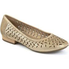 Clarks Henderson Silk Womens UK 3.5 D Fit Metallic Leather New Flat Ballet Pumps