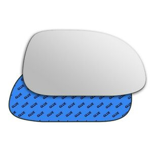 Right wing adhesive mirror glass for Daewoo Lacetti 2004-2009 303RS