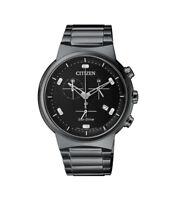 Citizen Eco-Drive Men's Chronograph Black Bracelet 41mm Watch AT2405-87E