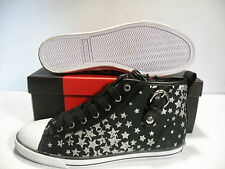 GUESS MAREE 4 HI WOMEN SHOES SNEAKERS BLACK/SILVER 1099260 SIZE 8.5 NEW