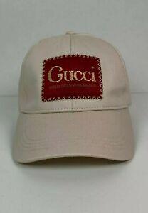 Gucci Cap Hat La Saison Patch Logo White One Size