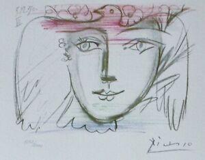 PABLO PICASSO Visage de la Paix VI HAND NUMBERED 1252/2000 signed LITHOGRAPH
