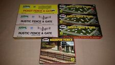 Atlas HO Scale Picket Fence & Gates, Rustic Fence & Gates and Hairpin Fence