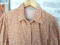 CABIN CREEK vintage cotton corduroy shirt ladies blouse ditsy cord  XL T776