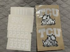 Tcu Horned Frogs Full Size 20mil Helmet Decals Texas Christian University