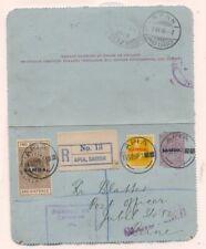 Samoa POSTAL CARD W 2Sh 6p STAMP DUTY 1918