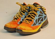eb78c83f0 Adidas Boys High Top Basketball Shoes Yellow Orange Blue Youth Size 5