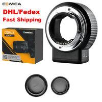 Commlite CM-ENF-E1 PRO AF Adapter For Nikon F Lens To Sony A7RII/RIII A7MII/MIII