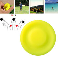 3 Pcs Mini Frisbee Silicone Sports  Soft Catching Flying Disc Sports Yellow