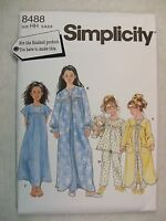 Child Girls Sleepwear Size 3 to 6 Sewing Pattern 8488 S See Full Listing Info