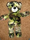 "Build A Bear Camouflage Camo 16"" Plush Teddy Homeless Military Needs A New Home!"