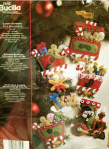 Bucilla Felt Embroidery Ornament Kits;Brand New; Some RARE; Your Choice  REDUCED