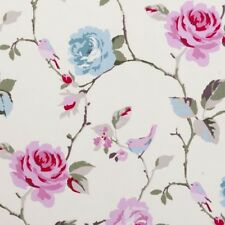 Clarke and Clarke Agatha Aqua Floral Design Curtain Upholstery Craft Fabric