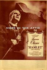 LAURENCE OLIVIER WILLIAM SHAKESPEARE ORIGINAL HAMLET U.S. PRESSBOOK HERALD