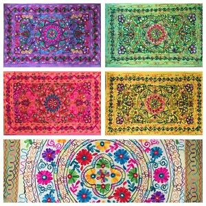 Indian Tapestry Suzani Wall Hanging Cover Mandala Hippie Gypsy Throw Bohemian UK
