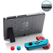9in1 TPU Shockproof Crystal Clear Body Protective Case Cap For Nintendo Switch