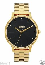 Nixon Original Kensington A099-2042 All Gold / Black Sunray Tone 37mm Watch