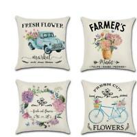 Fall Decorative Pillow Covers 18x18 Linen Farmhouse Throw Pillow Covers Q
